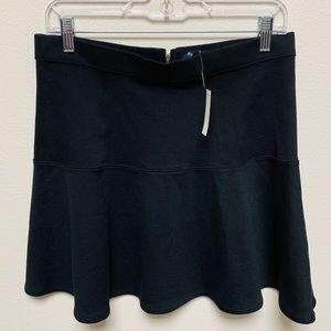 NEW Madewell Black Drop Waist Skirt 8